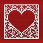 Square lace ornament — Stock Vector #75019317