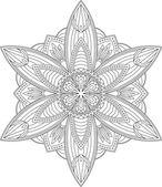 Mandala yuvarlak dantel tasarım — Stok Vektör