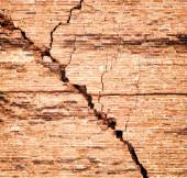 Kırık tuğla duvar — Stok fotoğraf
