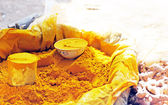 Yellow curry powder — Stock Photo