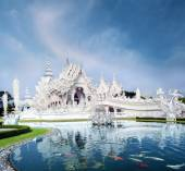 Wat Rong Khun white temple — Stock Photo