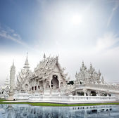 Wat Rong Khun white temple — Stock Photo
