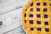 Homemade cherry pie — Stock Photo