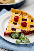 Homemade cherry pie — Stock Photo