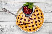 Homemade cherry pie — Stockfoto