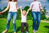 Family - enjoying the life together — Stock Photo