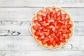 Homemade Strawberry cake — Stock Photo