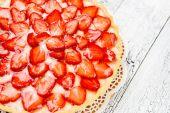 Domácí jahodový dort — Stock fotografie