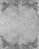 Cornice grunge con ornamento d'epoca — Foto Stock