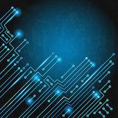 Electronic circuit — Stock Vector