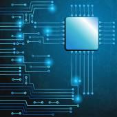 Disegno di circuito elettronico moderno — Vettoriale Stock