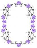 Floral ornament frame — Vecteur