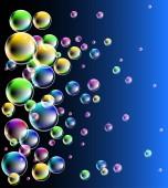 Spectacular bubbles — Stock Vector