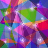 Abstract polygonal background with stars — Stockvektor