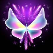 Butterfly and glowing salute — Wektor stockowy