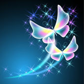 бабочки и звезды — Cтоковый вектор
