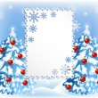 Christmas background with fur trees — Stock vektor #59593973