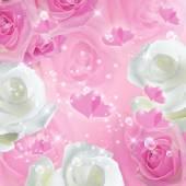 Romantischen Hintergrund mit Rosen — Stockfoto