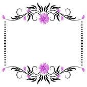 Ram med blommig prydnad — Stockvektor
