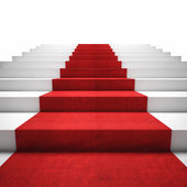 Red carpet stair — Stock Photo