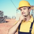 Handyman at construction site — Stock Photo #55968595