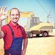 Handyman at construction site — Stock Photo #55968799