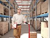 Man in warehouse — Stock Photo
