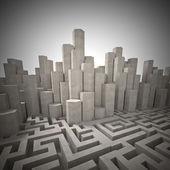 Abstrakte labyrinth — Stockfoto