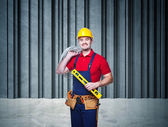 Handyman portrait — Stock Photo