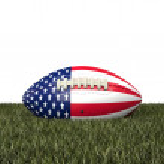 American football ball — Stock Photo #61270577