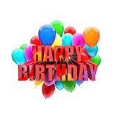 Birthday balloons — Stock Photo
