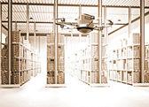 Futuristico magazzino — Foto Stock