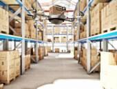 Futuristic warehouse — Stock Photo