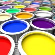 Colorful paint can — Stock Photo #66960423