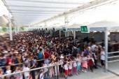 Expo crowd — Stock Photo
