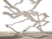 Endless stair on white — Stock Photo