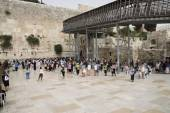 At the Wailing Wall in Jerusalem pilgrimage — Stock Photo