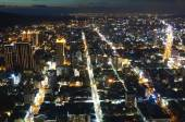 Luces de la ciudad de kaohsiung en la noche — Foto de Stock