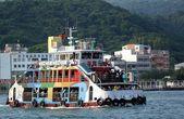 Crowded Ferry Boat in Kaohsiung Port — Stock Photo