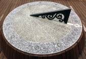 Large Sundial Made From Stone — Stock Photo