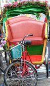 Riksza tradycyjny cykl na Tajwanie — Zdjęcie stockowe