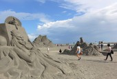 Sand Sculptures on Chijin Island — Stock Photo