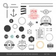 Hipster style infographics elements set for retro design. With r — Stockvector