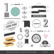 Hipster style infographics elements set for retro design. With r — ストックベクタ #55176547