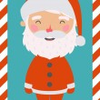Little Santa. Christmas and New year card. EPS 10 file, easy to  — Stockvector  #57642027
