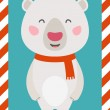 Little Polar bear. Christmas and New year card. EPS 10 file, eas — Stock Vector #57642029