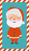 Little Santa. Christmas and New year card. EPS 10 file, easy to  — 图库矢量图片
