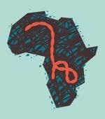 Ebola-Virus in Afrika. Vektor-Illustration — Stockvektor