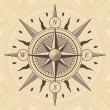 Oldstyle wind rose compass — Stock Vector #64033391