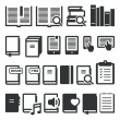 Book icons, e-book, reading on different devices. Vector icons — Stock Vector #65238009